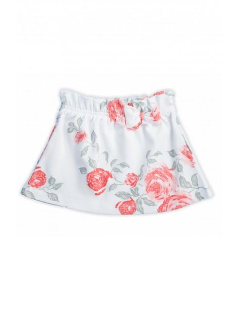 Bawełniana spódniczka w kwiatki kolekcja Róża