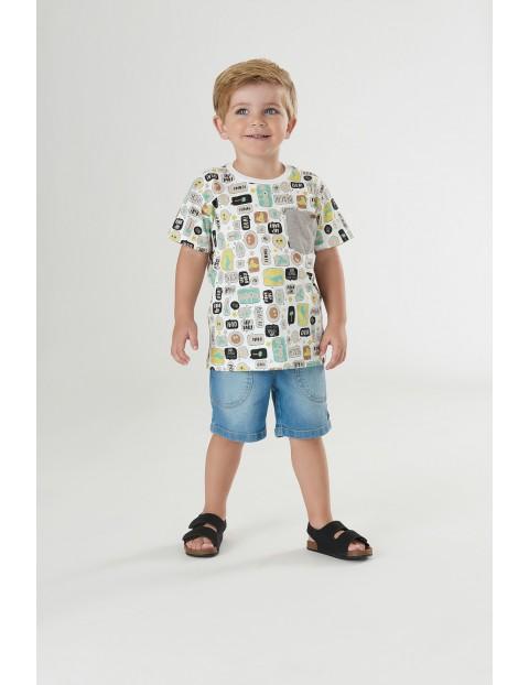 Koszulka dziecięca we wzorki - biała