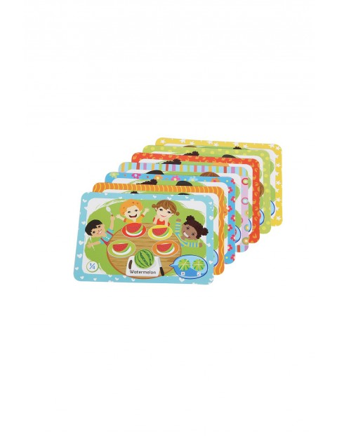 Drewniana zabawka edukacyjna - Owocowa matematyka Smily Play wiek 3+