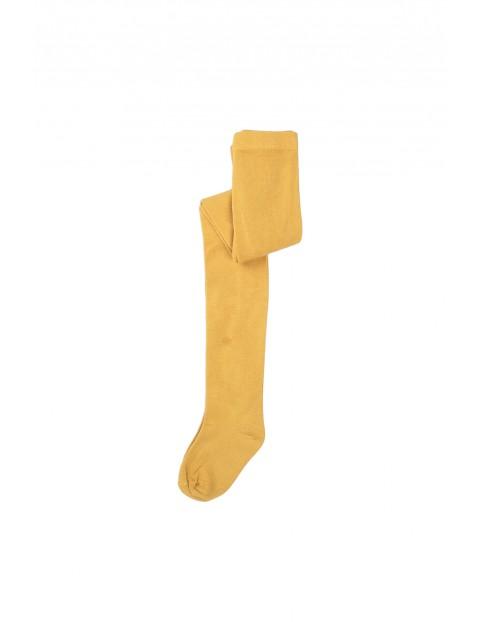 Rajstopy dziewczęce żółte gładkie