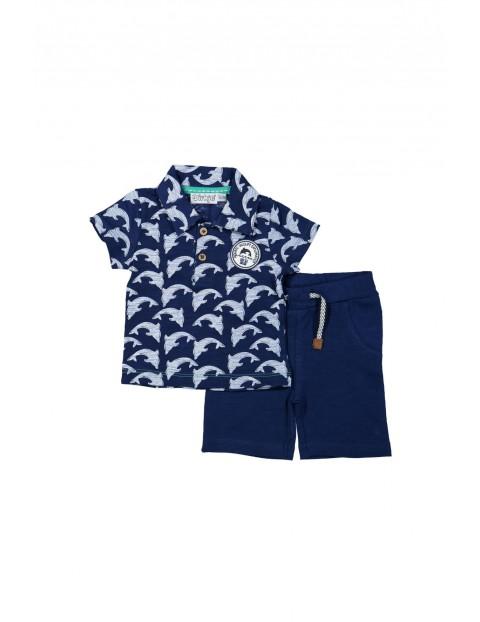 Komplet niemowlęcy koszula i szorty