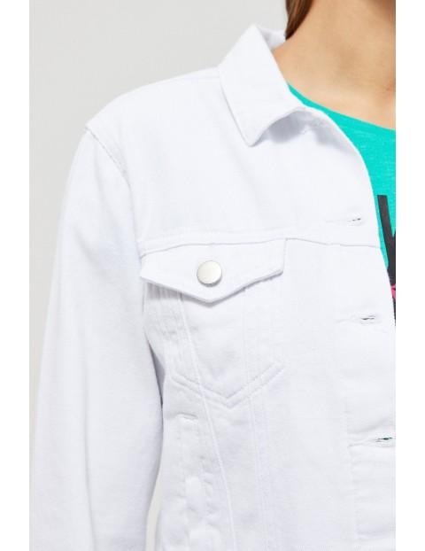 Damska katana jeansowa biała