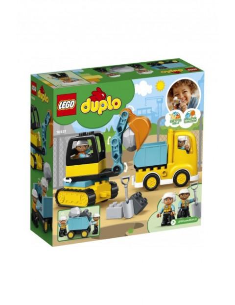 Lego Duplo - Ciężarówka i koparka gąsienicowa - 20 elementów wiek 2+