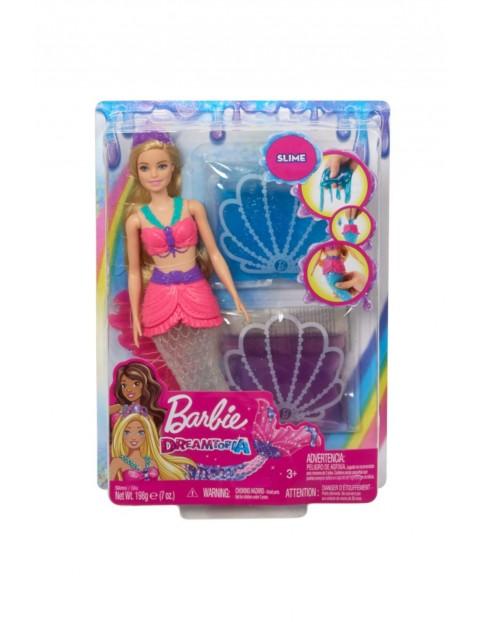 Barbie Dreamtopia - Lalka Syrenka i brokatowy slime wiek 3+