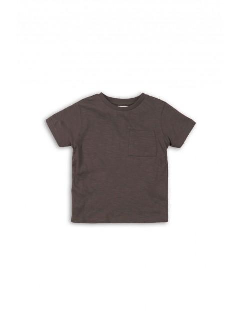 T-shirt chłopięcy grafitowy- 100% bawełna