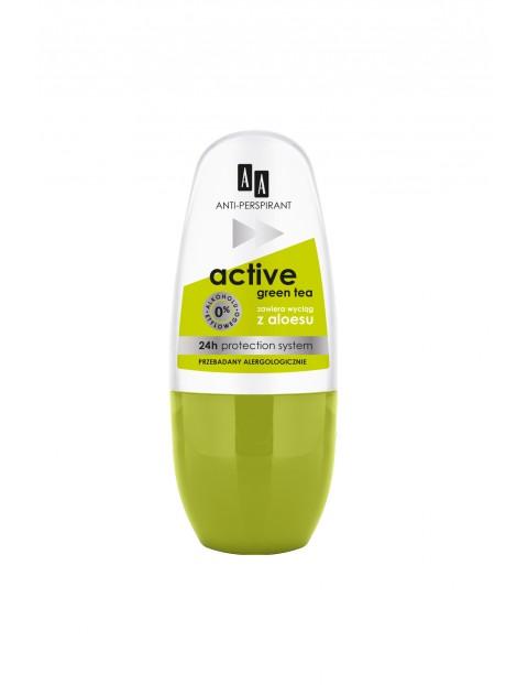AA Deo antiperspirant w kulce No Stress Active Green Tea 24h 50 ml
