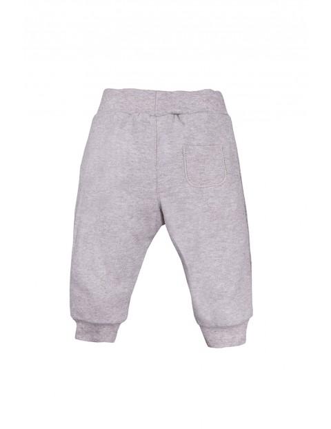 Bawełniane spodnie z kieszonką -  szare