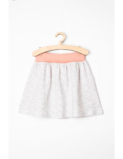 Spódniczka niemowlęca szara z miękkiej dzianiny