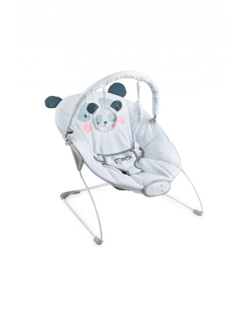 Leżaczek bujaczek z wibracją i muzyką MoMi GLOSSY Panda 0-6msc