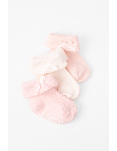 Skarpetki niemowlęce z ABSem Kocham Cię 3pak