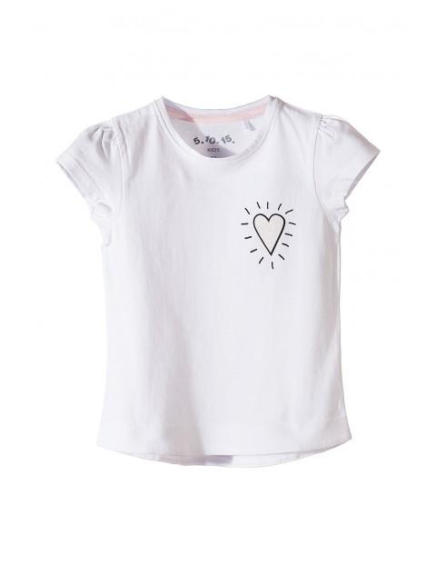 T-shirt dziewczęcy bawełniany 3I3509