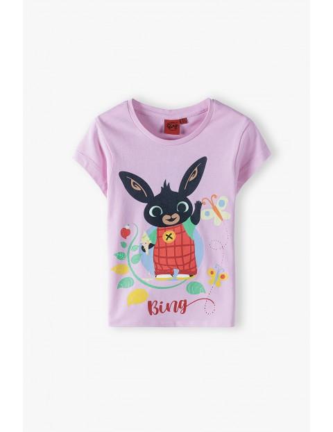 T-shirt dziewczęcy Bing - różowy