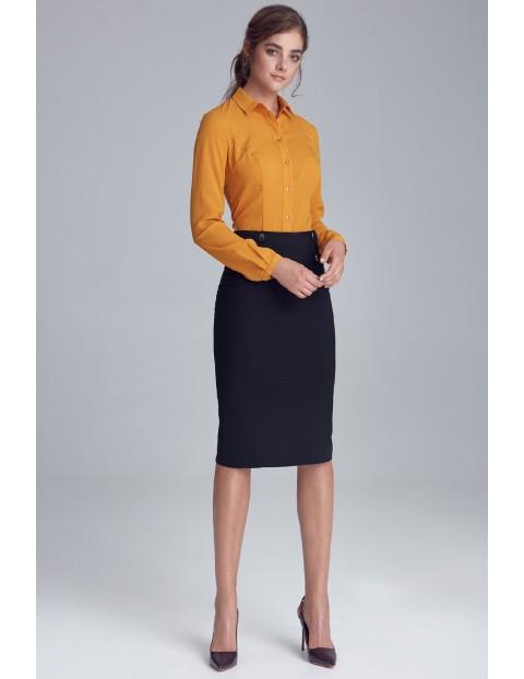 Koszula damska żółta z długim rękawem