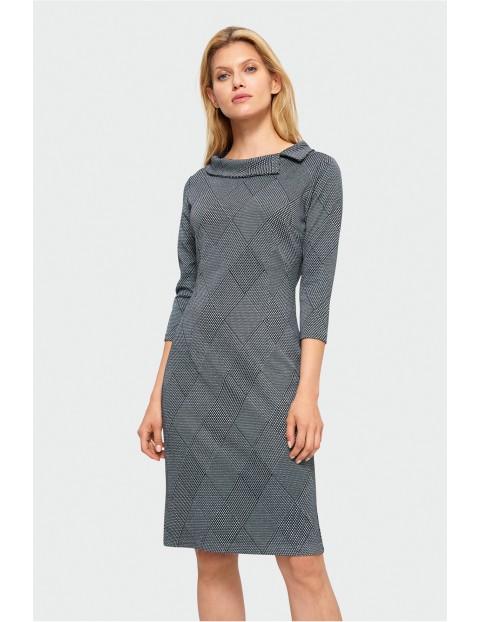 Sukienka szara w kratę
