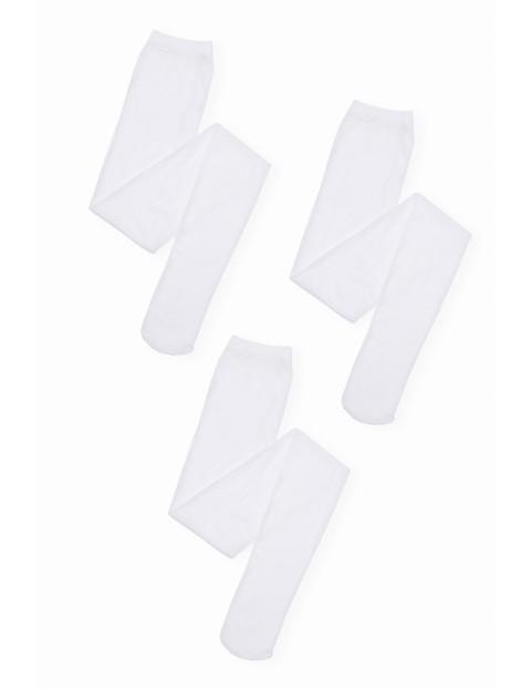 Rajstopy dziewczęce białe 3 pak