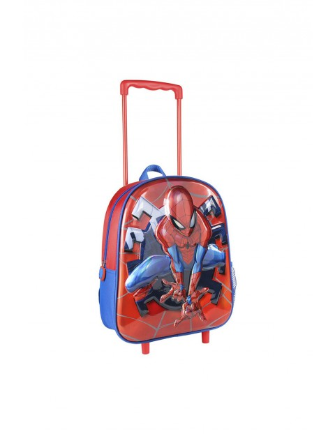 Plecak 3D na kółkach z rączką Spiderman