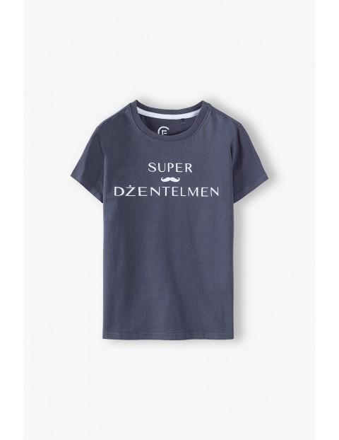 Bawełniany t-shirt chłopięcy- Super Dżentelmen