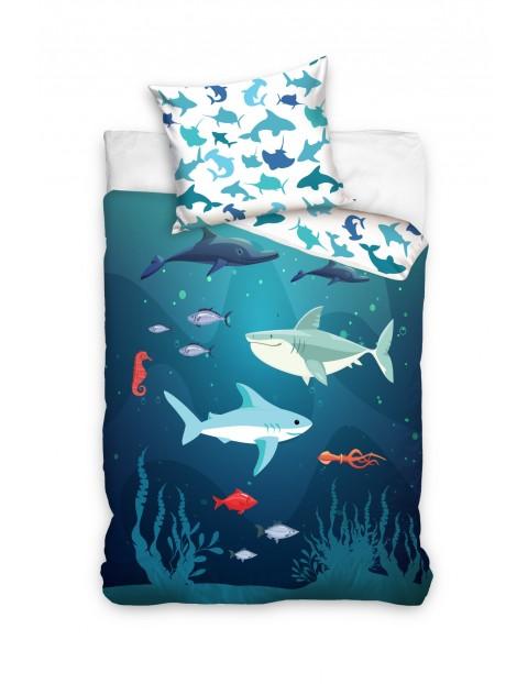 Komplet pościeli bawełnianej Ocean 160x200+70x80 cm