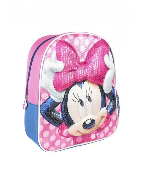 Plecak 3D premium, z cekinami-  Myszka Minnie