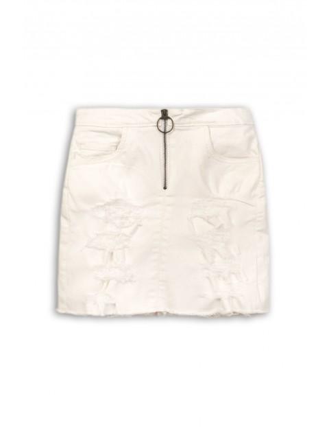 Spódnica dziewczęca biała z przetarciami