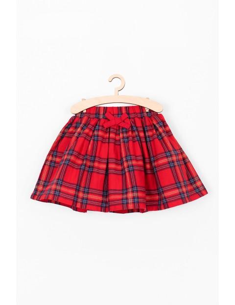 Czerwona spódnica w kratkę- kolekcja świąteczna