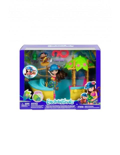Zestaw Tropikalna łódka Enchantimals - lalka Merit Monkey oraz małpka Compass wiek 4+