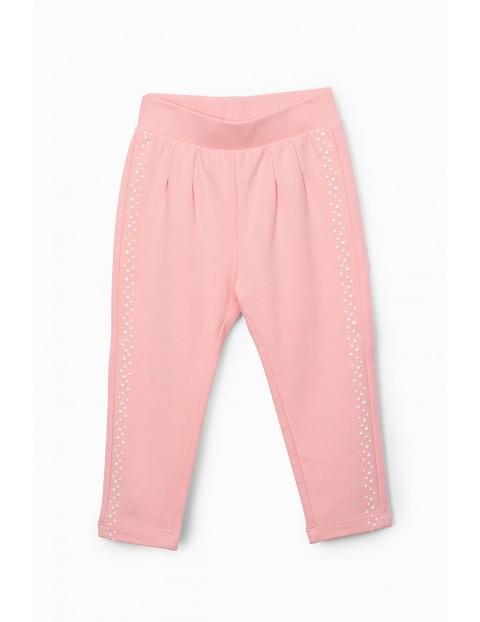 Spodnie dziewczęce dresowe - różowe