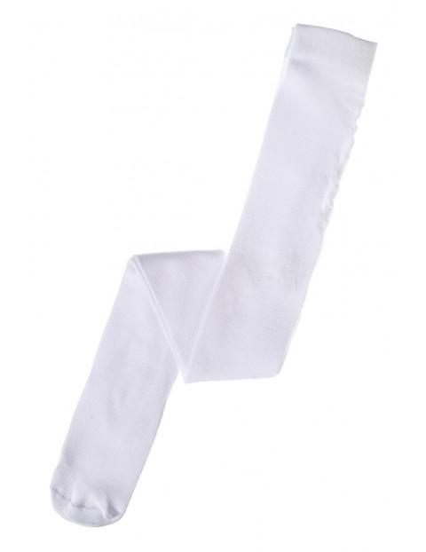 Rajstopy białe dla dziewczynki 3V3544