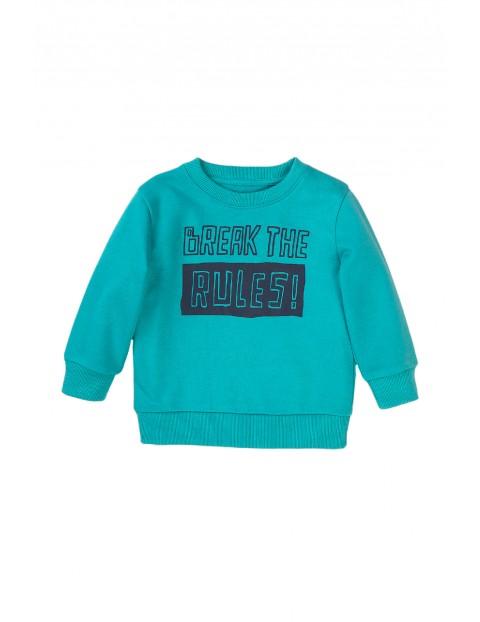 Bluza dresowa niemowlęca turkusowa