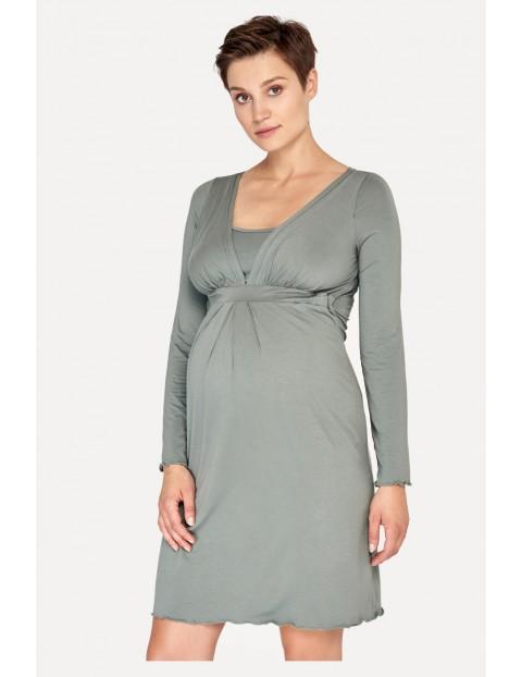 Koszula nocna ciążowa i do karmienia - khaki