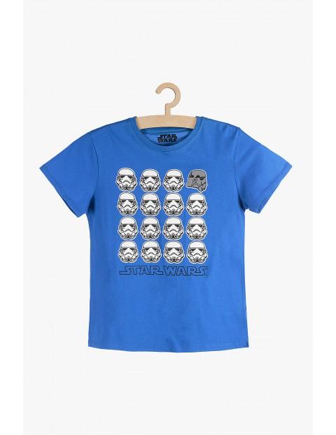 T-shirt chłopięcy niebieski Star Wars