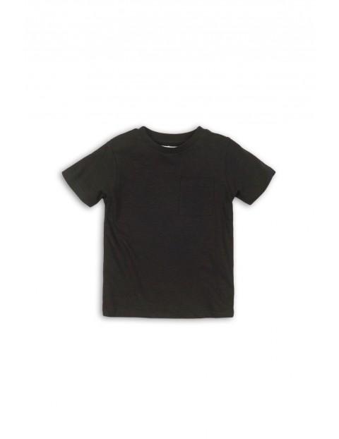T-shirt chłopięcy czarny z kieszonką