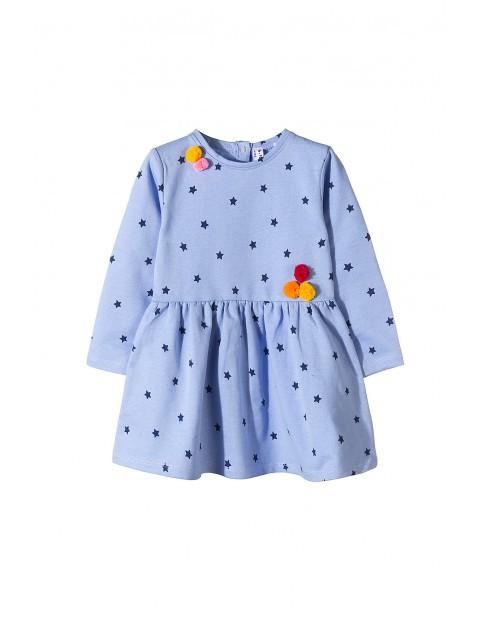 Sukienka dziewczęca z dzianiny 3K3508