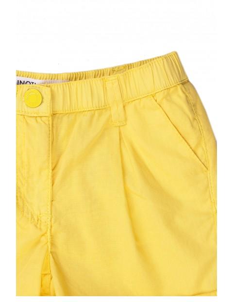 Bawełniane szorty niemowlęce żółte