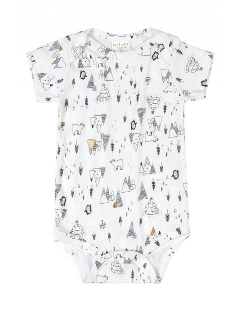 Body niemowlęce białe we wzorki