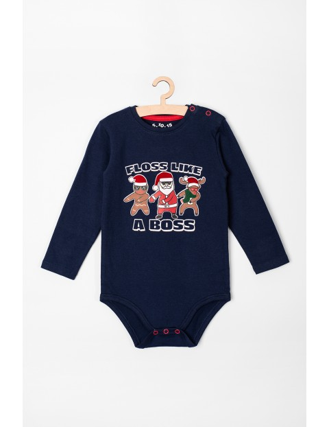 Body niemowlęce ze świątecznym nadrukiem