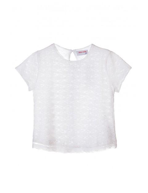 Biała elegancka bluzka dla dziewczynki