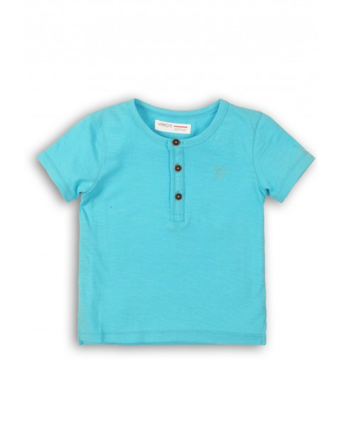 Bawełniany t-Shirt chłopięcy - niebieski