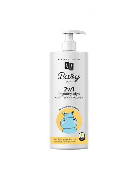 AA Baby Soft 2w1 Łagodny Płyn do mycia i kąpieli 500 ml 0+