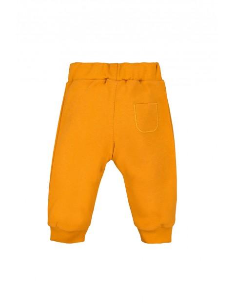 Bawełniane spodnie z kieszonką - miodowy