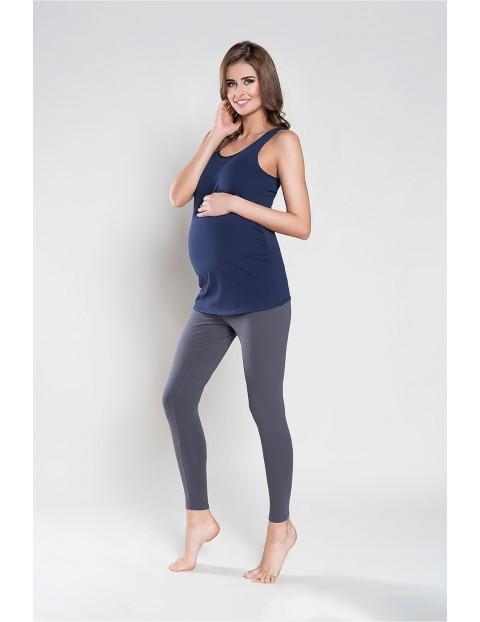 Koszulka damska ciążowa EWELINA szerokie ramiączka - granatowa