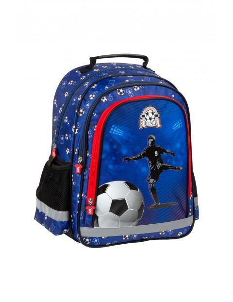 Plecak szkolny dla chłopca PIŁKA - niebieski