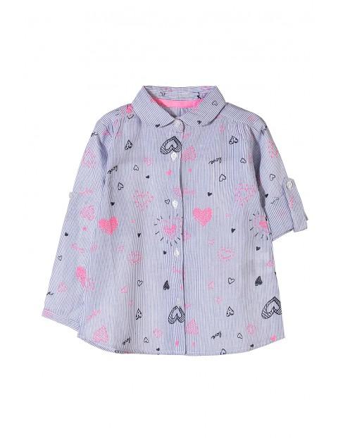 Koszula dziewczęca w serduszka