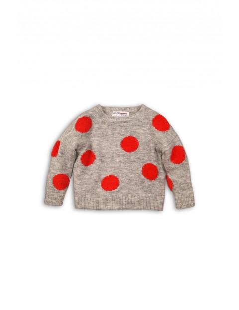 Sweter dziewczęcy w grochy