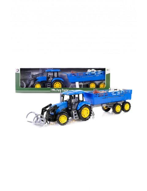 Traktor z przyczepą 79 cm - niebieski wiek 3+