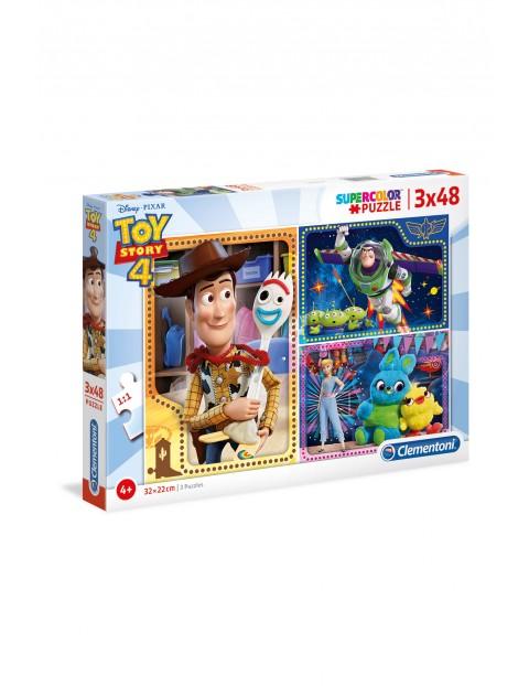 Puzzle  Super Color Toy Story Clementoni 4 - 3 x 48 elementów wiek 4+