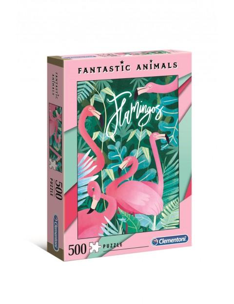 Puzzle Fantastyczne zwierzęta Flamingi Clementoni - 500 el