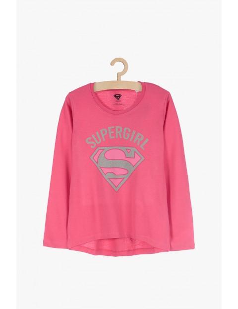 Supergirl- bluzka dziewczęca z długim rękawem