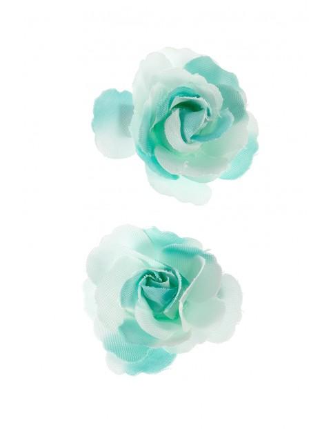 Spinki do włosów- niebieskie różyczki