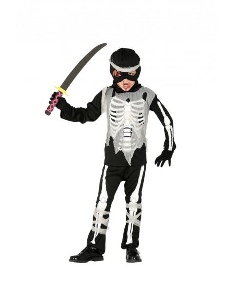 Strój karnawałowy chłopięcy Szkieletor Ninja